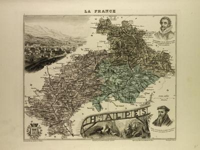 Map of Hautes Alpes 1896 France