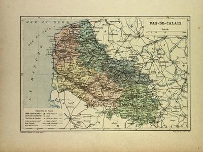 Map of Pas-De-Calais France