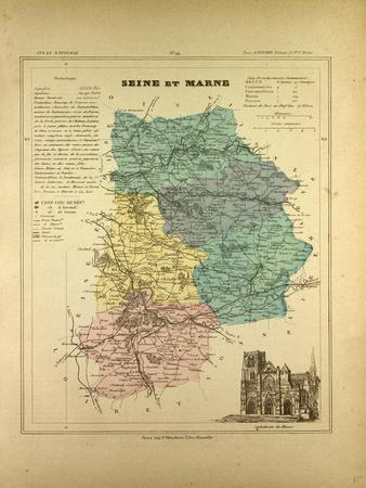Map of Seine Et Marne France