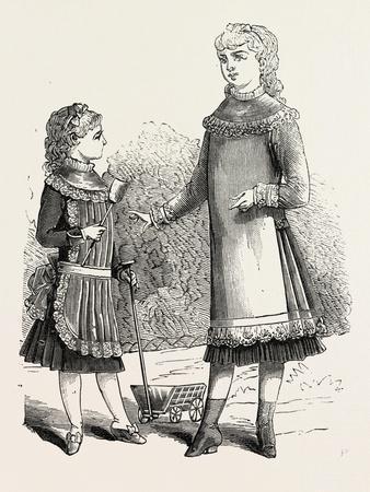 Girls' Pinafores, 1882, Fashion