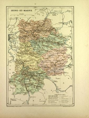 Map of Seine-Et-Marne France