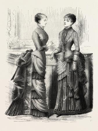 Indoor Toilettes, Fashion, 1882