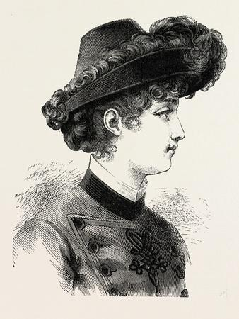 Young Lady's Hat, Fashion, 1882