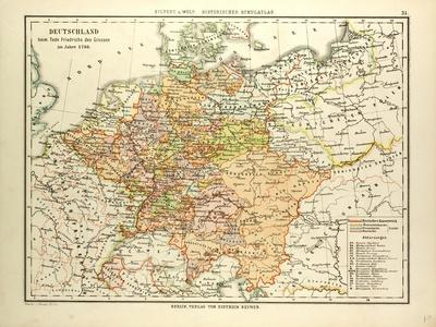 Map of Germany in 1786