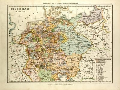 Map of Germany in 1378
