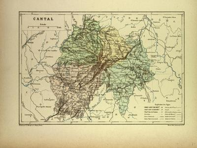 Map of Cantal France