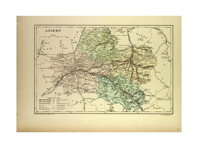 Map of Loiret France