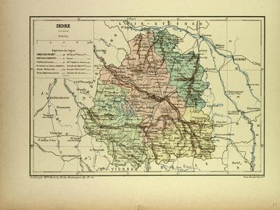 Map of Indre France