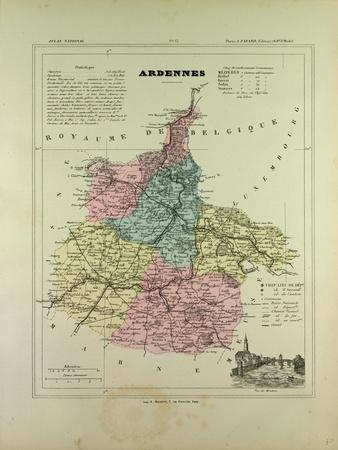 Map of Ardennes France