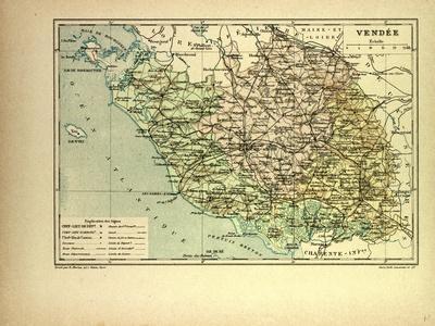 Map of Vendée France