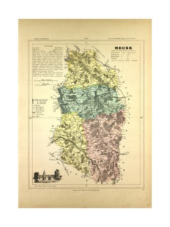 Map of Meuse France
