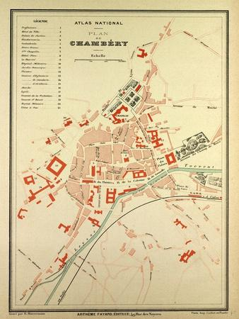 Map of Chambéry France