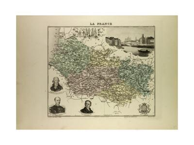 Map of Somme 1896, France