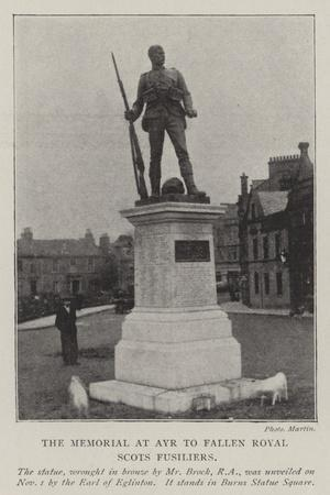 The Memorial at Ayr to Fallen Royal Scots Fusiliers
