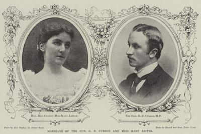 Marriage of the Honourable G N Curzon and Miss Mary Leiter