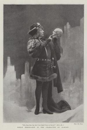 Sarah Bernhardt in the Character of Hamlet