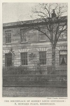The Birthplace of Robert Louis Stevenson, 8, Howard Place, Edinburgh