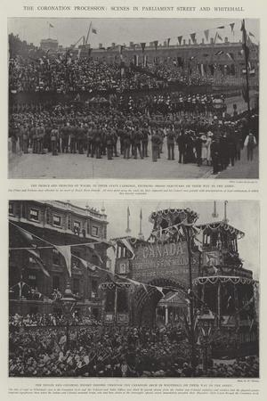 The Coronation Procession, Scenes in Parliament Street and Whitehall