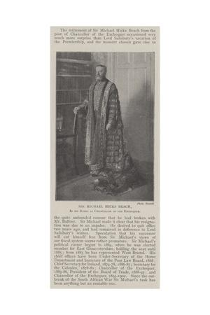 Sir Michael Hicks Beach, in His Robes as Chancellor of the Exchequer
