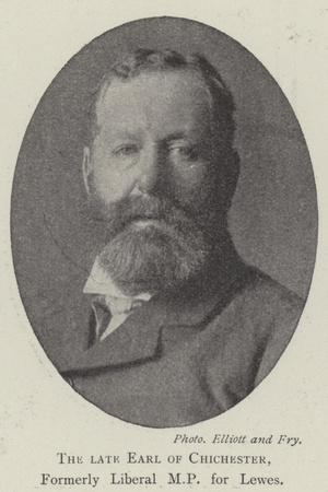 The Late Earl of Chichester, Formerly Liberal Mp for Lewes