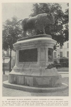 Monument to Rosa Bonheur, Lately Unveiled at Fontainebleau