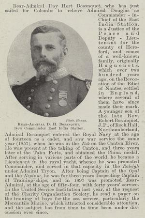 Rear-Admiral D H Bosanquet, New Commander East India Station