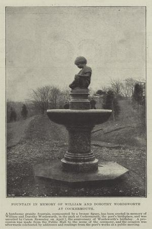 Fountain in Memory of William and Dorothy Wordsworth at Cockermouth