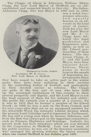 Alderman W E Clegg, New Lord Mayor of Sheffield