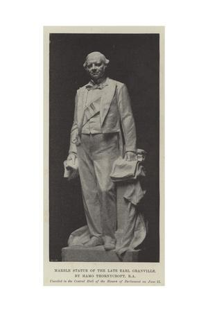 Marble Statue of the Late Earl Granville, by Hamo Thornycroft, Ra