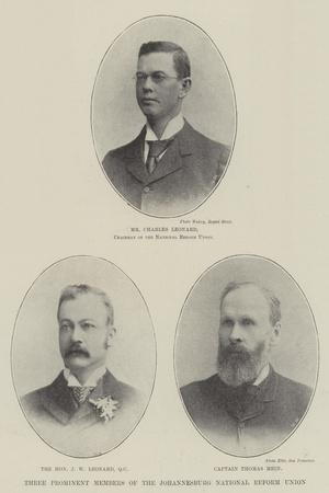 Three Prominent Members of the Johannesburg National Reform Union
