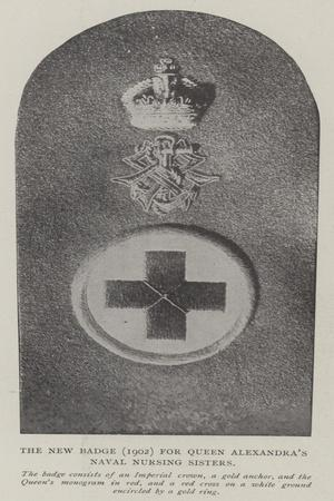 The New Badge (1902) for Queen Alexandra's Naval Nursing Sisters