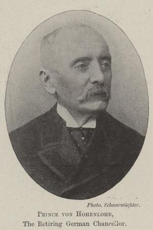 Prince Von Hohenlohe, the Retiring German Chancellor