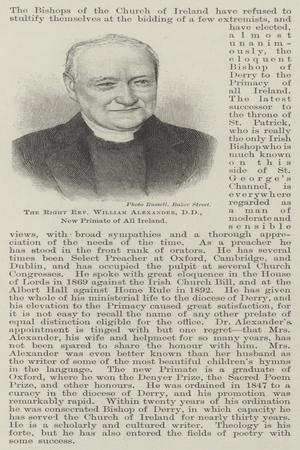 The Right Reverend William Alexander, New Primate of All Ireland