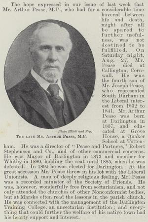 The Late Mr Arthur Pease