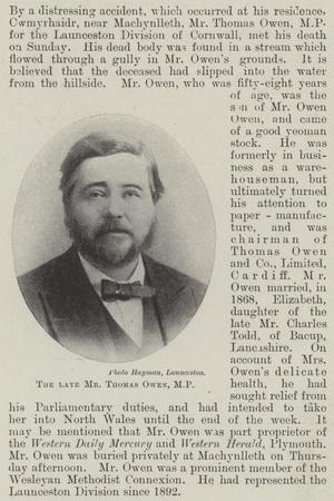 The Late Mr Thomas Owen