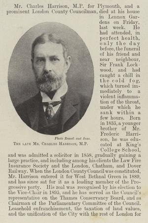 The Late Mr Charles Harrison