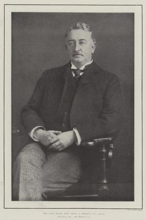 The Late Right Honourable Cecil J Rhodes