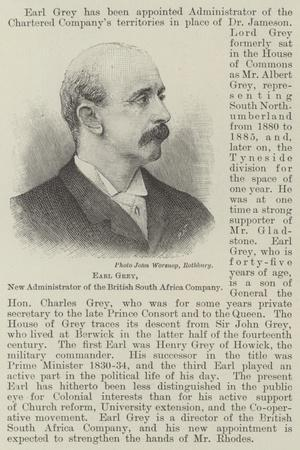 Earl Grey, New Administrator of the British South Africa Company