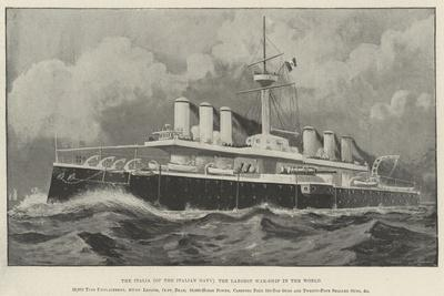 The Italia (Of the Italian Navy), the Largest War-Ship in the World