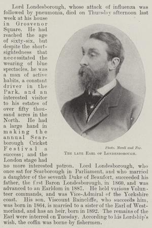The Late Earl of Londesborough