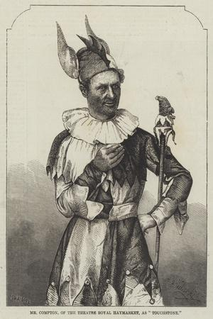 Mr Compton, of the Theatre Royal Haymarket, as Touchstone