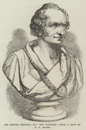 Sir Samuel Bignold, Mp for Norwich, from a Bust by G G Adams