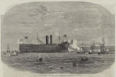 Our Iron-Clad Fleet, Undocking HMS Agincourt at Birkenhead