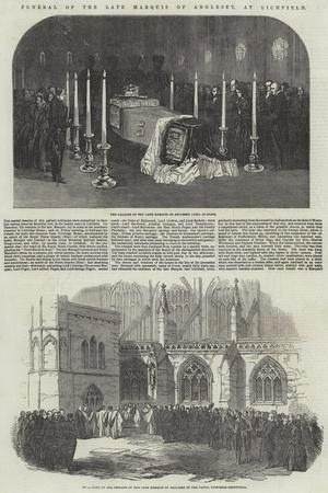 Funeral of the Late Marquis of Anglesey, at Lichfield