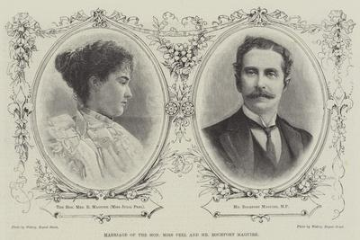Marriage of the Honourable Miss Peel and Mr Rochfort Maguire
