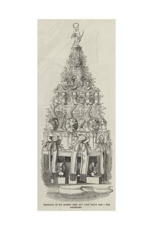 Marriage of Sir Robert Peel and Lady Emily Hay, the Bridecake