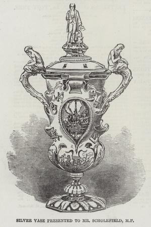 Silver Vase Presented to Mr Scholefield, Mp