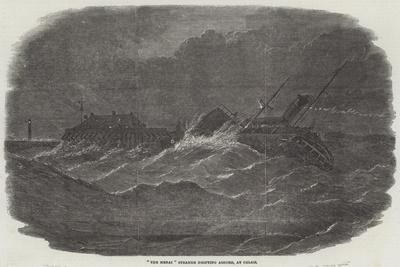 The Menai Steamer Drifting Ashore, at Calais