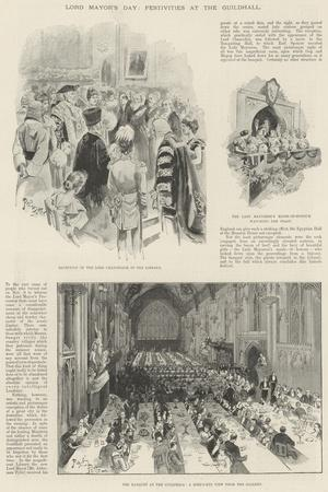 Lord Mayor's Day, Festivities at the Guildhall