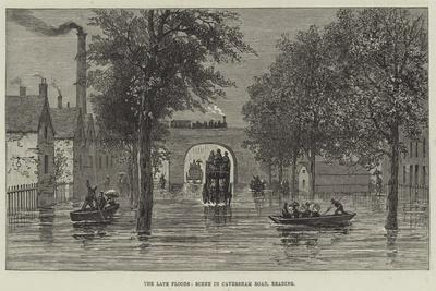 The Late Floods, Scene in Caversham Road, Reading